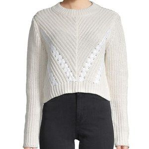 3.1 Phillip Lim Cropped Cotton Pullover Sweater